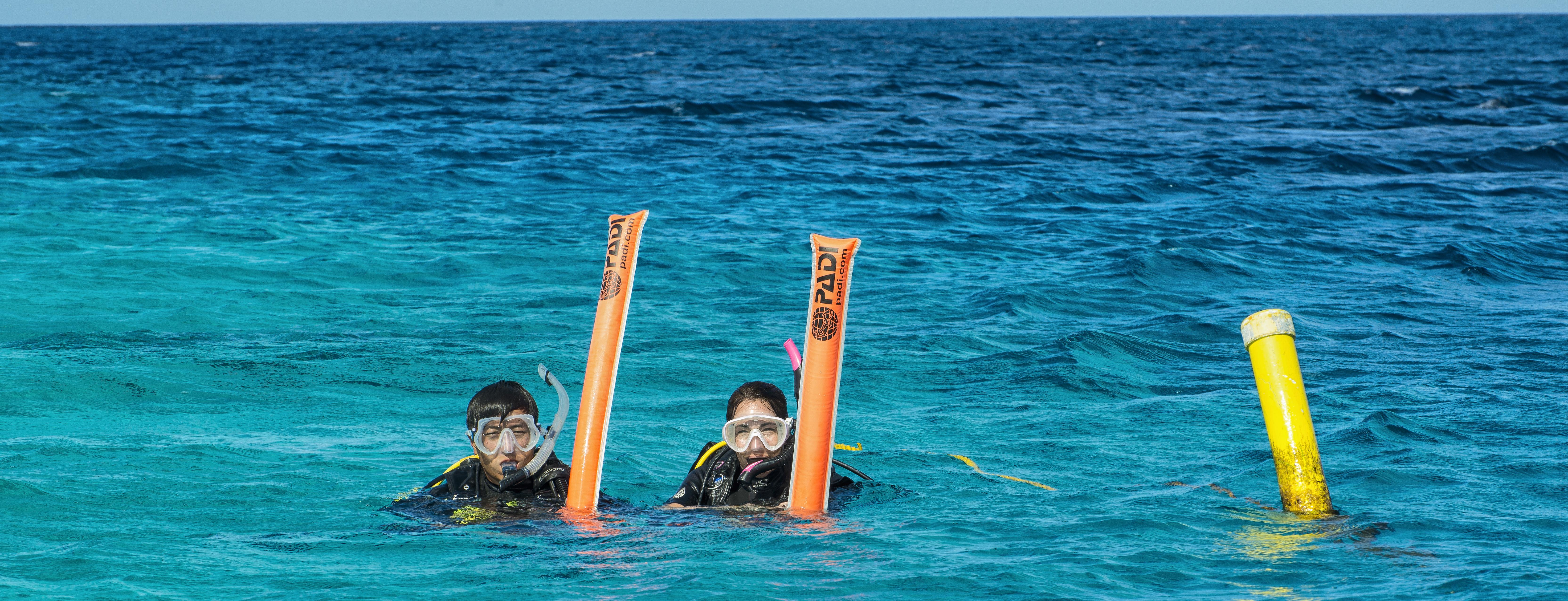 PADI Delayed Surface Marker Buoy (DSMB) Diver